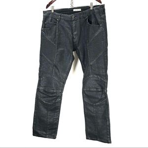 Pierre balmain black denim jeans 38